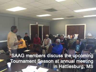 SAAG members discuss the upcoming Tournament Season at annual meeting in Hattiesburg, MS